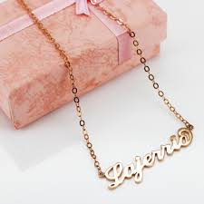 Gold Personalized Name Necklace Rose Gold S925 Silver Personalized Name Necklace Lajerrio Jewelry