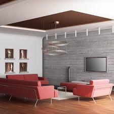 faux plafond salon plafond suspendu ou tendu marie claire