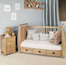 Amelie Oak CotBed With Three Drawers Amelie Oak Childrens - Oak bedroom furniture uk