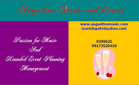 Wedding Reception Programs Wedding Website Manila Philippines Augustine Music And Events