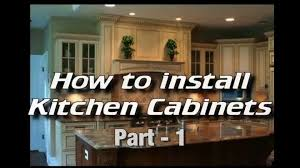 How To Take Cabinets Off The Wall How To Install Kitchen Cabinets Installing Cabinets Cabinet