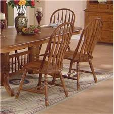 solid oak dining table arrowback chair set by e c i furniture