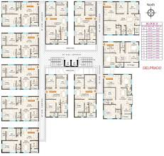 typical floor plan 2 3 bhk cluster plan image shriya infrastructure west metro