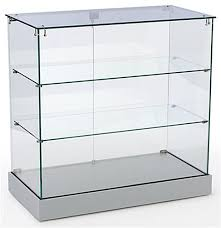 glass cabinet for sale showcase counter locking silver cabinet ships unassembled