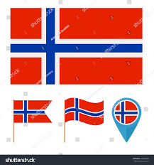 Country Flag Images Norway Icons Design Reference Particular Country Stock Vector