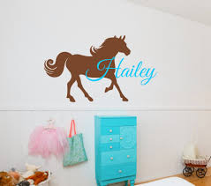 personalized name horse wall stickers for kids room boys girls room