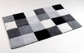 Grey Bathroom Rug by Mary Mosaic Squares 100 Cotton Bathroom Shower Bath Mat Rug 50cm