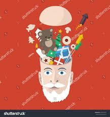 full head christmas things creative xmas stock vector 225747259