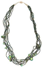 jewelry design multi strand necklace with seed beads and