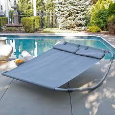 island bay double sun lounger double hammock bed maya hayneedle