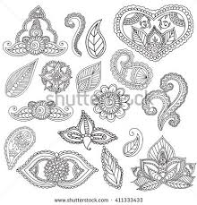 coloring pages adults fo henna stock vector 411333433