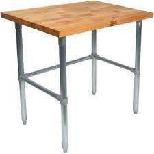 wood top work table john boos jnb16 work table wood top ebay