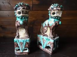 Ornaments Home Decor Antique Chinese Tang Dynasty Style Foo Dogs Ornaments Home Decor
