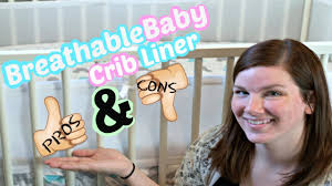 breathablebaby mesh crib liner review youtube