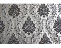 Black And White Striped Upholstery Fabric Dark Secret Damask Upholstery Fabric Curtain Fabric Upholstery