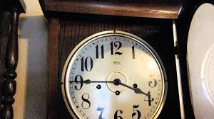 Ridgeway Grandfather Clock Ebay Vintage Ridgeway Regulator Pendulum Triple Chime Wall Clock With