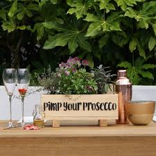 Prosecco Garden Windowsill Planter And Growing Kit By Plant And