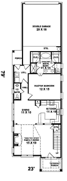 narrow floor plans house plans narrow lot home design