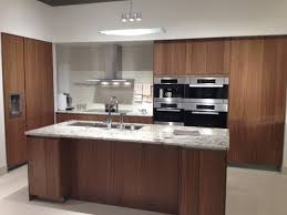 Contemporary Walnut Kitchen Cabinets - siematic cabinetry walnut veneer contemporary kitchen san