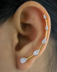 ear cuffs online shopping buy pair of gold plated trendy ear cuffs by kavya jethmalani