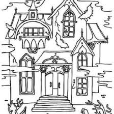 printable spooky house halloween halloween haunted house coloring page spooky house