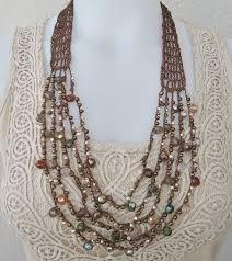 crochet necklace with beads images P gt ho realizzato queste collane con filo di seta lavorato all jpg