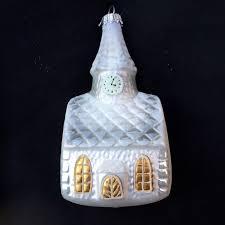 wedding ornament church with steeple lauscha glas creation mercury