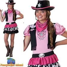 cowgirl giddy up wild west costume age 4 14 girls teens