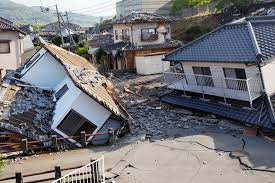 japanese town new sense of fragility in japanese town struck twice by quakes the