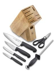 victorinox kitchen knives fibrox amazon com victorinox 7 piece knife block set kitchen knives