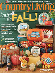 country living magazine october 2017 edition texture