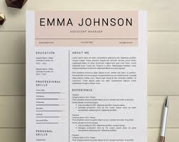 Resume Templates For Word Simple Resume Template Clean Cv Design Cover Letter Ms Word
