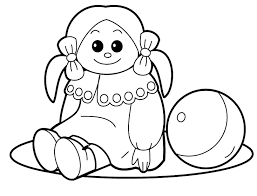 baby doll coloring pages glum me