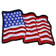 Iron On American Flag Leathers Wavy U S Flag Patch