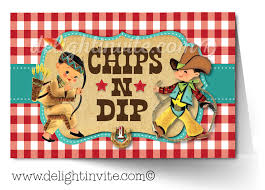 vintage cowboy and indians 1st birthday invitations di 344