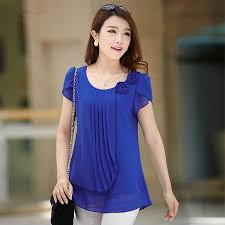 2017 chiffon blouse 2015 summer tops women casual loose blouses o