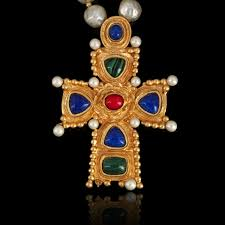 byzantine crosses christian lacroix bead necklace and byzantine cross