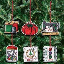 janlynn sewing ornaments cross stitch kit 021 1454