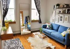 living room decorating ideas for apartments with mirror and faux