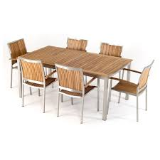 Teak Dining Room Furniture by Renava Vista Outdoor Teak Dining Table Set