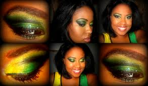 Colors Of Jamaican Flag Labor Day Inspired Makeup Jamaican Flag Eye Makeup U2013 Makeupbyleelee