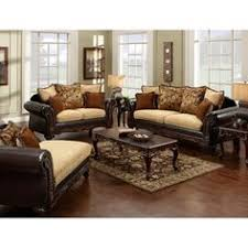 Overstock Living Room Sets Overstock Two Tone Reclining Sofa Set This