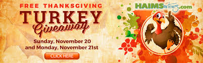 thanksgiving turkey giveaway purchase a vehicle with haims motors