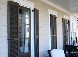 Adorable Room Appearance Wooden Shutters Exterior To Create Attractiveness For Your House