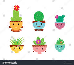 cute plant cute plant family vector stock vector 495784966 shutterstock