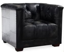 siege capitonné fauteuil capitonné cuir noir et aluminium aviator lestendances fr