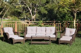 Artificial Wicker Patio Furniture - darby home co herrin 6 piece wicker seating group with cushions