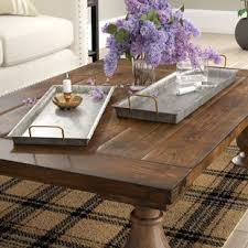 silver coffee table tray decorative trays you ll love wayfair