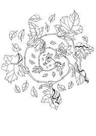 fall elf mandala coloring pages hellokids com