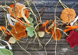 fall garland fall garland crochet pattern hooked on happiness